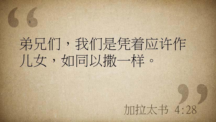 加拉太书4:28